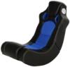 AC Design Furniture 43449 Musiksessel Monaco, Bezug Kunstleder schwarz, Mesh blau mit eingebautem Soundsystem - 1