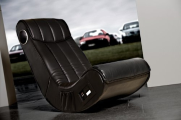 AC Design Furniture 8553 Musiksessel Henk, Bezug Kunstleder mit eingebautem Soundsystem, schwarz - 2