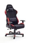 dx racer1 buerostuhl gaming stuhl schreibtischstuhl chefsessel mit armlehnen gaming chair gestell nylon 78 x 124 134 x 52 cm stoffbezug schwarz rot